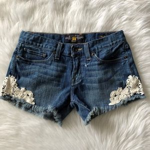 NWOT Lucky Brand Riley Cut Off Shorts with Lace